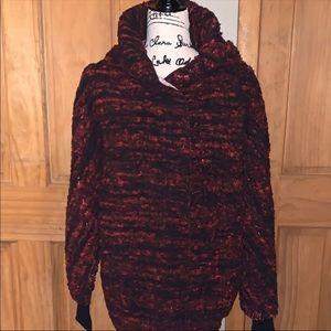 NWT M LLR Red & Black Teddy Bear Jacket